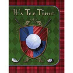 Tee Time Golf Party Invitations - 8 Count - 1