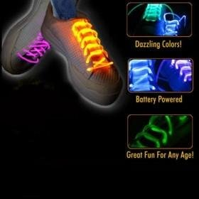 Light-up neon glow shoelaces