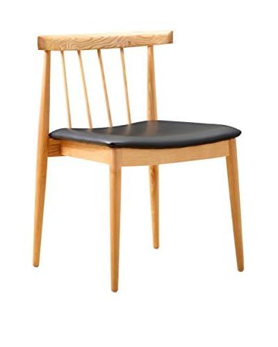Manhattan Living Mid Century Thin Dining Side Chair, Black