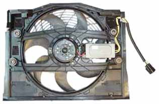TYC 611190 BMW 3 Series Replacement Condenser Cooling Fan Assembly from TYC