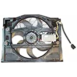 TYC 611190 BMW 3 Series Replacement Condenser Cooling Fan Assembly (E46 Models, Clutch Radiator fans)