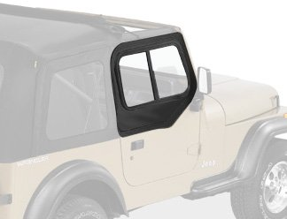 Bestop 51786-15 Black Denim Upper Door Slider Set For 88-95 Wrangler Yj