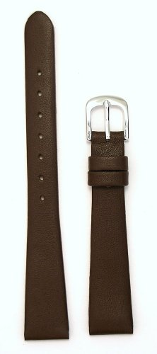 Ladies' Genuine Italian Leather Watchband, Color Brown, Size 8mm, Watch Strap
