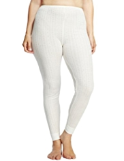 Plus Fuller Figure Pointelle Thermal Leggings