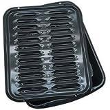 RANGE KLEEN BP102X Porcelain Broiler Pan & Grill