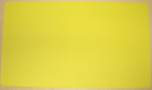 Yugioh Magic the Gathering Yellow Playmat Play Mat Game PAD MAT 1/16 INCH Thick