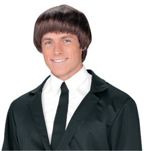 60s Band Member Brown Wig Accessory