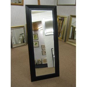 New Long Black Solid Oak Full length dressing mirror 19