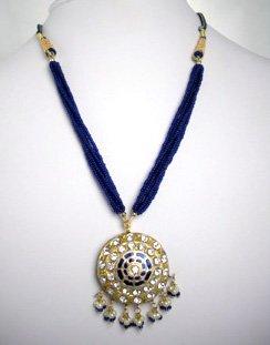 Indian Necklace Set (Blue)