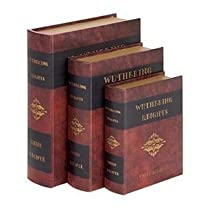 Wutherings Heights Leather Faux Book Boxes
