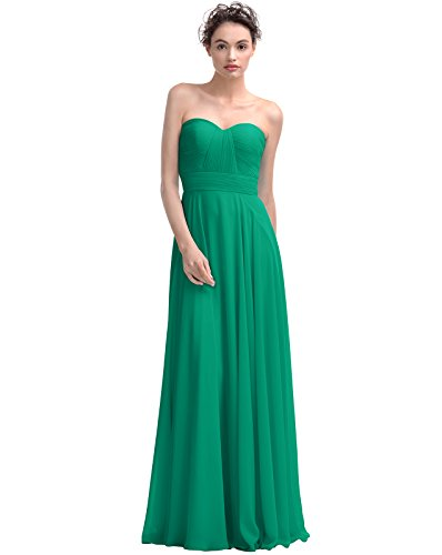 Alicepub Couture A-line Chiffon Bridesmaid Dress Floor Length Prom Evening Gown,#93