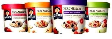 Quaker Real Medley'S Variety Pack: 4 Bowls Of Summer Berry, 4 Bowls Of Apple Walnut Oatmeal, 4 Bowls Of Peach Almond & 4 Bowls Of Cherry Pistachio (16 Pack)