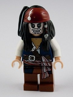LEGO Pirates of the Caribbean: Jack Sparrow Skeleton Minifigure - 1