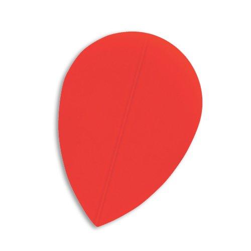 F4026 Red Poly Pear Dart Flights 5 Sets pro Pack (15 Flights insgesamt).