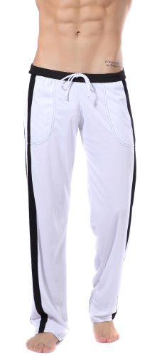 Silkworld Men'S Elastic Waist Casual Sport Pants With Pockets