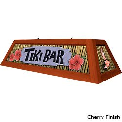 Tiki Bar Pool Table Light: Oak