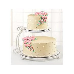 wilton 2 tier floating cake stand kitchen products cake stands. Black Bedroom Furniture Sets. Home Design Ideas