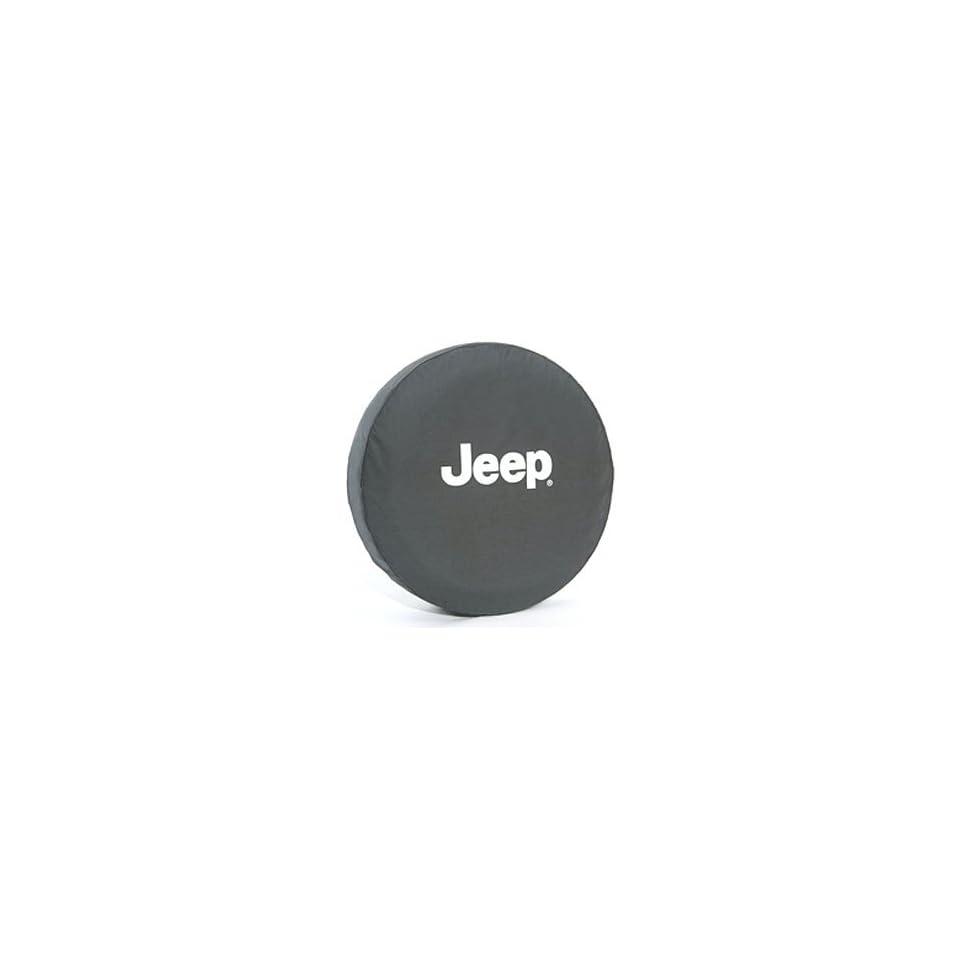Jeep Wrangler Black Denim W/ Logo Spare Tire Cover 31 Inch Mopar OEM