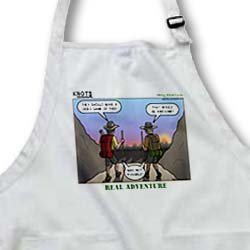 Knots Hiking Adventure - Real Adventure - BLACK Full Length Apron With Pockets 22w X 30l