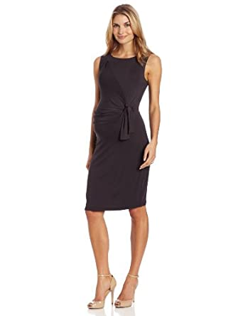 Ripe Maternity Women's Maternity Tie Dress, Tar, Small at Amazon Women