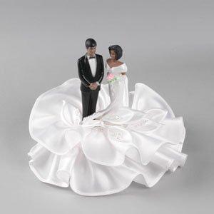 African American Wedding Couple Adornment Designer Wedding Cak