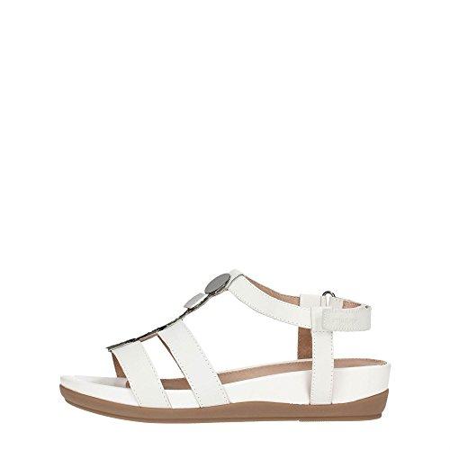 STONEFLY 106353 bianco scarpe donna sandali bassi cinturino strappo 38