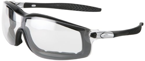 Mcr Safety Rt110Af Rattler Nylon Indirect Vented Elastic Strap Dielectric Glasses With Black Frame And Clear Anti-Fog Lens