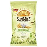 Walkers Sunbites Sour Cream And Cracked Black Pepper 6 X 25G
