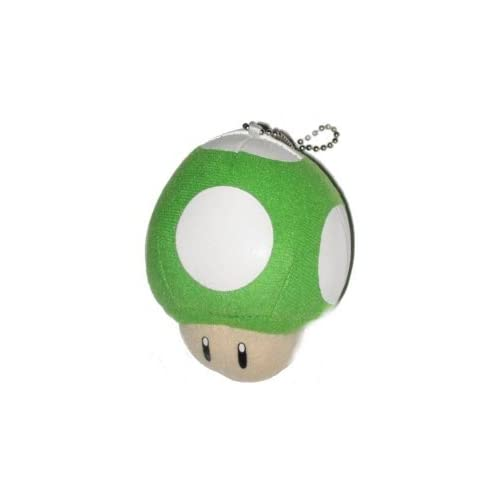 Nintendo Super Mario Bros. One Up Plush Keychain Toys & Games