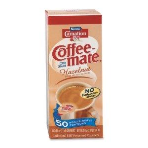 Coffee-mate Liquid Creamer Singles-Hazelnut, 50 ct