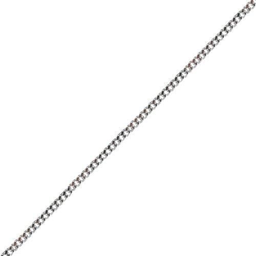 Silver Bright Cut Solid Curb Pendant Chain