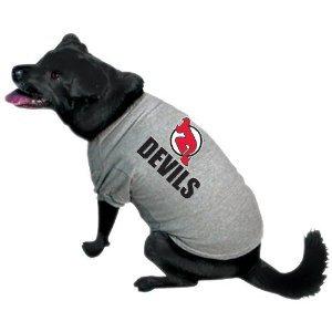Nhl New Jersey Devils Pet T-Shirt, Team Color, Large front-29057