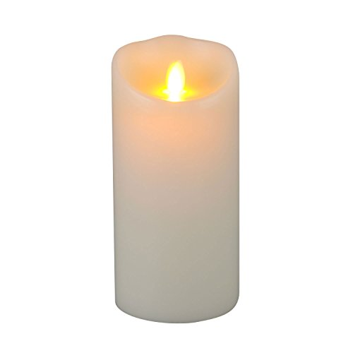 Moving wick lumina wax candle 3 5 by 7 inch pillar ivory for Different brands of candles