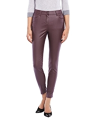 M&S Collection Leather Look Ankle Grazer Denim Jeggings