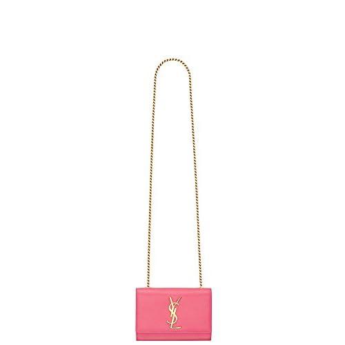(サンローランパリ) Saint Laurent Classic Small Monogram Saint Laurent Satchel in Lipstick Pink Grain de Poudre Textured Leather (並行輸入品) LASTERR