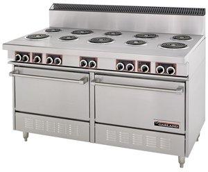 "Garland S684 Commercial Electric Range 60""W, 6 Burners, 2 Ovens, 24"" Griddle"