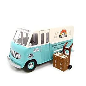 diecast car: 1950 Ford Step Van Milk Truck 1:24 Diecast Model