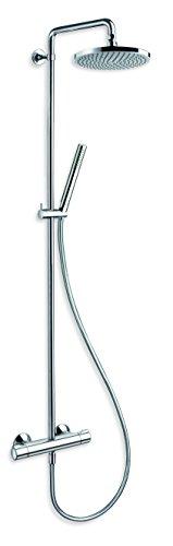 Cristina TE45651 - Colonna doccia Thêta Confort NF, con miscelatore termostatico, colore: Cromato