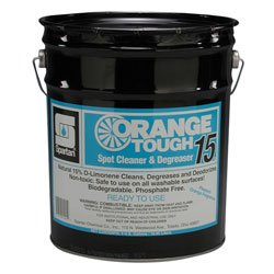 Spartan 2215 Degreaser, Industrial-Grade Spartan Orange Tough 15 Cleaner, Blasts Nastiest Crud & Grime (5gl)
