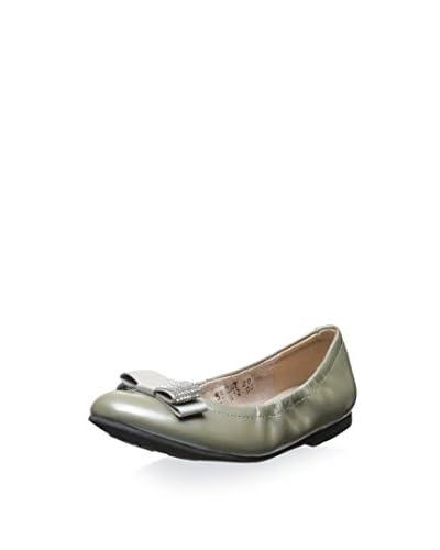 Venettini Kid's Tracy Pearlized Leather Ballet Flat
