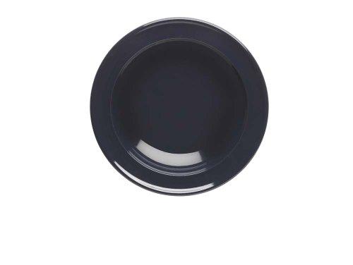 Emile Henry 438871 Lot de 4 assiettes creuses céramique émaillée coloris caviar Ø 22,5 cm