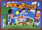 "Joy Carpets Kid Essentials Language & Literacy Library Day Rug, Multicolored, 5'4"" x 7'8"""