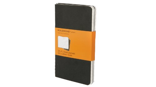 Moleskine Ruled Cahier Journal Black Pocket: 