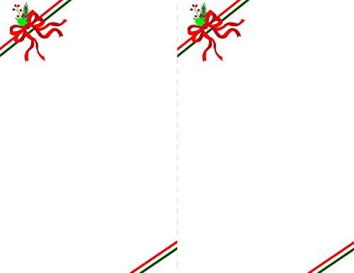 Ribbons Elegance Red Foil 2-Up Invitations w Envelopes, 24/Pack
