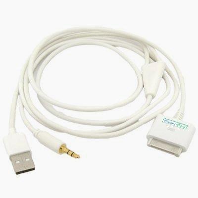 Proxima Directweiß iPhone iPod 3,5 mm Audio-und USB-Dock Kabel / AUX-Kabel
