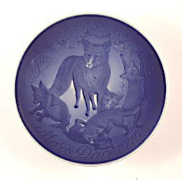 1979 Bing & Grondahl Mother's Day Plate - Fox and Cubs