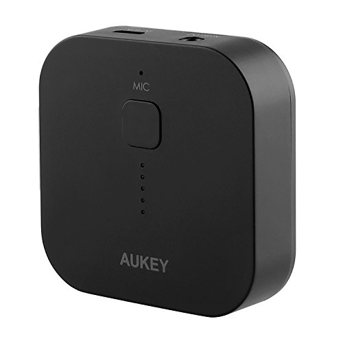 AUKEY-Bluetooth-Empfnger-Tragbare-Drahtlos-Bluetooth-30-Receiver-Wireless-Adapter-Audiogerte-fr-Heim-HiFi-Auto-Lautsprechersystem-und-Handy-mit-Stereo-35-mm-Aux