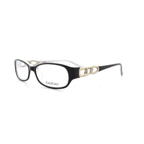 Amazon.com: Bebe Eyeglasses BB 5022 BLACK 002/JET BANGLES: Bebe