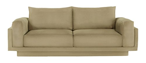 FEYDOM FEY810013 2-3 Sitzer-Sofa Cloud-B mit Schlaffunktion, Veloursstoff, cappuccino
