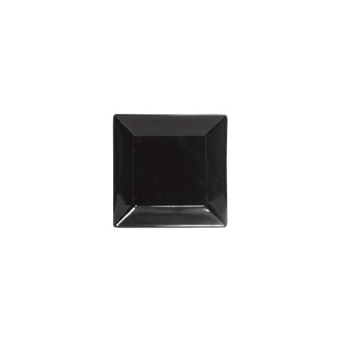"Tuxton Bbh-1016 10.125"" Black Square Series Plate - 12 / Cs"